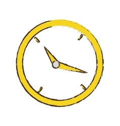 drawing clock time business money design vector image