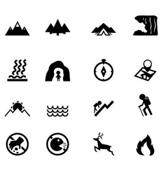 forest camping icon vector image