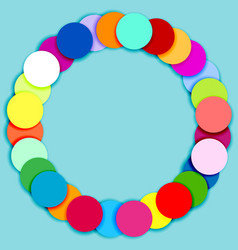 Round frame made of multicolor circles vector image