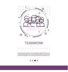 teamwork management business team banner with copy vector image vector image