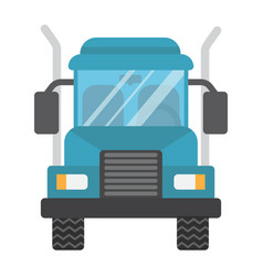 truck flat icon transport and vehicle cargo sign vector image vector image