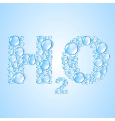 Water drops h2o shaped - background vector