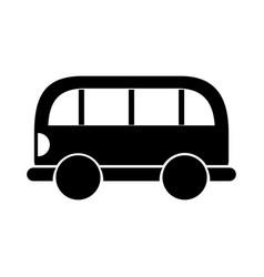 black icon car cartoon vector image