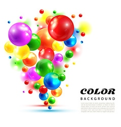 color abstract background from volume balls vector image vector image