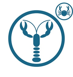 Crayfish and crab icons vector image