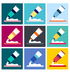medical ointment flat icon vector image