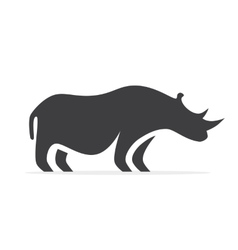 rhino logo or icon vector image vector image
