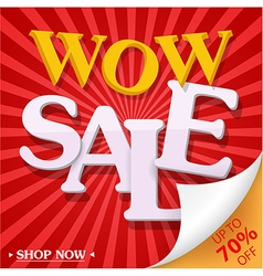 Sale celebration design with percent discount vector image vector image