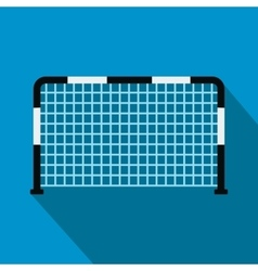 Soccer goal flat icon vector image vector image