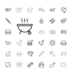 33 meat icons vector