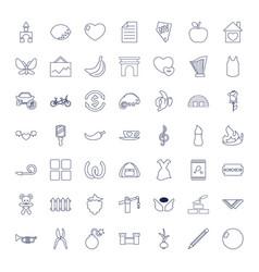 49 art icons vector