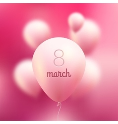 8 March International Women Day pink vector image
