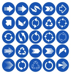 Arrow sign icons vector