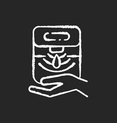 automatic hand sanitizer dispenser chalk white vector image