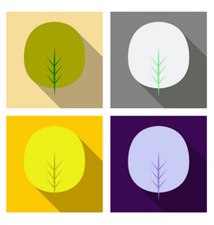 Autumn leaves isolated on colour background vector