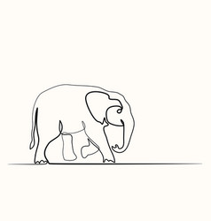 baby elephant walking symbol vector image
