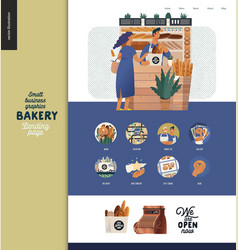 Bakery - small business graphics - landing page vector