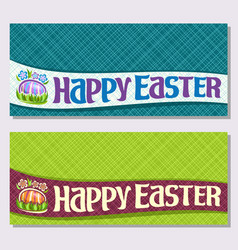banners for easter holiday vector image