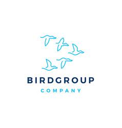 bird group colony logo icon vector image
