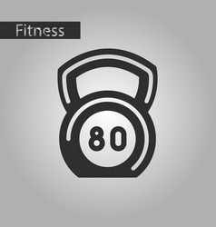Black and white style icon weight vector