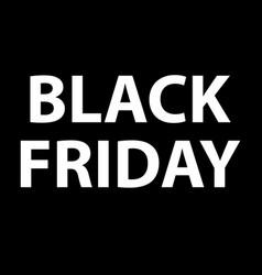 black friday sale icon on white background flat vector image
