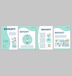 Boycott brochure template layout consumer vector