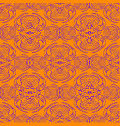 bright afrikan tribal abstract ornament in doodle vector image