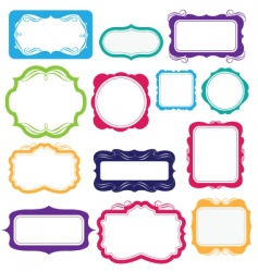 bright frames and labels vector image
