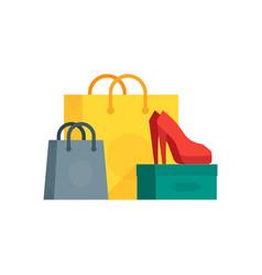buyings in paper bags vector image