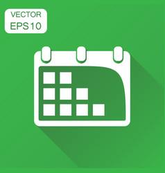 calendar agenda icon business concept calendar vector image