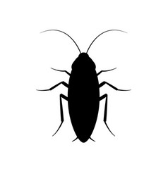 cockroach bug icon roach silhouette insect vector image