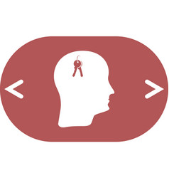 concept of an open mind vector image