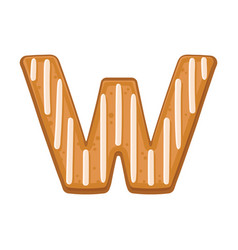 Cookies in shape letter w vector