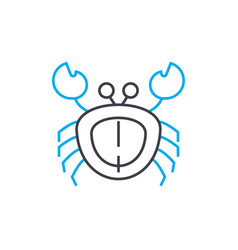 Crab linear icon concept crab line sign vector