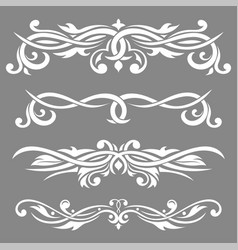 decorative dividers bold elements on gray vector image