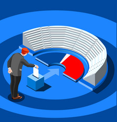 election infographic parliament vote vector image