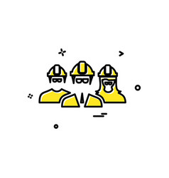 engineer group icon design vector image