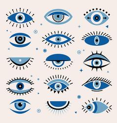 Evil eye tribal ornamental ethnic graphic greece vector