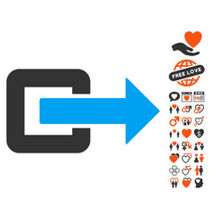 exit direction icon with dating bonus vector image
