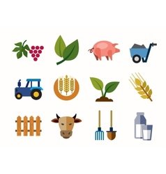 farming icons vector image