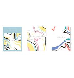 fashion boutique card original design set banner vector image