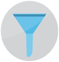 Filter funnel icon vector