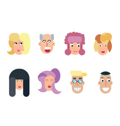 flat characters avatars with eyes vector image