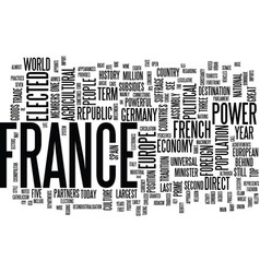 France at the forefront of europe text background vector