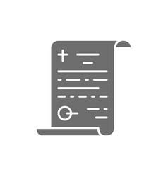 Funeral testament last will gray icon vector