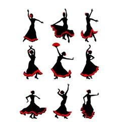 Girl dancing flamenco vector image