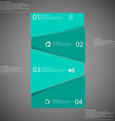 Infographic template with green bar randomly vector