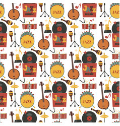 Jazz musical instruments tools background jazzband vector