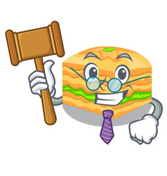 Judge baklava is isolated the with mascot vector