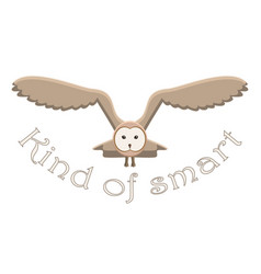kind of smart owl idiom vector image